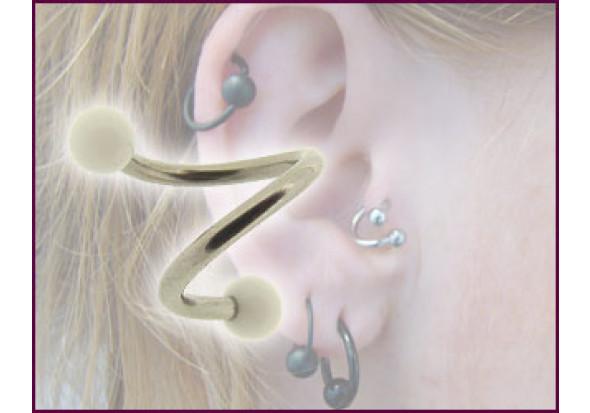 piercing spirale accessoires acrylique bille blanche piercing tragus anneaux tragus. Black Bedroom Furniture Sets. Home Design Ideas