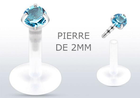 piercing labret pierre turquoise pas cher aia piercing. Black Bedroom Furniture Sets. Home Design Ideas
