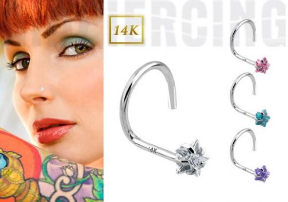 piercing nez toile 3mm piercing nez toile en or gris aia piercing. Black Bedroom Furniture Sets. Home Design Ideas