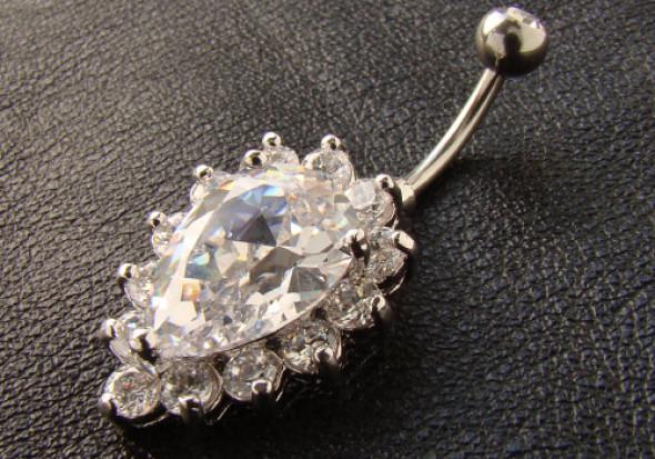 piercing nombril pendentif goutte blanche qualit sup rieure nombril aia piercing. Black Bedroom Furniture Sets. Home Design Ideas
