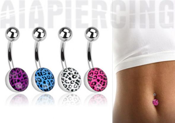piercing nombril l opard en acier chirurgical piercing nombril l opard en 4 couleurs aia piercing. Black Bedroom Furniture Sets. Home Design Ideas