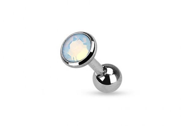 piercing cartilage ou tragus opalite blanche piercing opale pas cher aia piercing. Black Bedroom Furniture Sets. Home Design Ideas