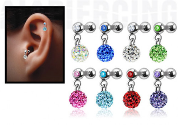 pendentif cristaux de swarovski pour tragus ou cartilage aia piercing. Black Bedroom Furniture Sets. Home Design Ideas