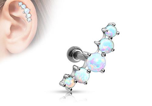 piercing de cartilage et helix 5 opales pas cher aia piercing. Black Bedroom Furniture Sets. Home Design Ideas