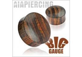 Plug gros diamètre  bois marron - du 6.5mm au 50mm
