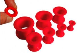 Tunnel souple silicone rouge - Diamètres au choix de 4mm à 16mm