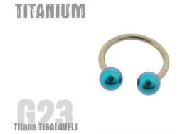 Fer acheval titane turquoise 3mm