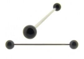 Piercing indus boules acier noir