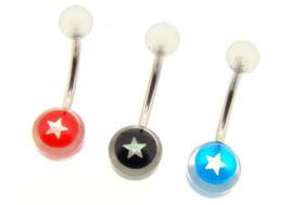 DESTOCKAGE Piercing nombril acrylique étoile