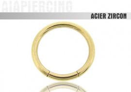 Piercing anneau fermé en acier zircon – 1,6mm