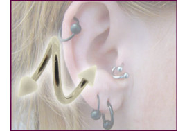 Piercing Spirale accessoires acrylique spike blanc