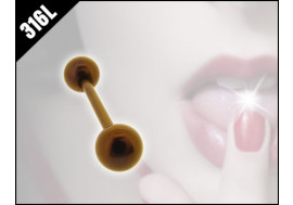 Piercing langue couleur café