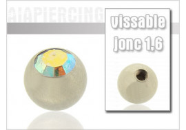 Bille cristal blanc irisé 1.6mm
