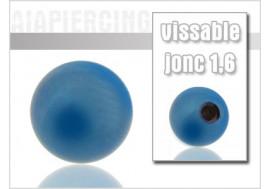 Accessoire piercing Bille bleue 1,6mm