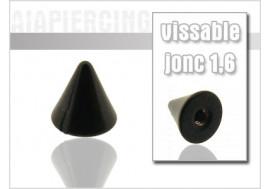 Accessoire piercing spike blackline 5x5mm