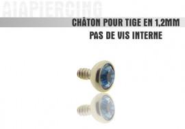 Accessoire piercing Châton cristal bleu fonçé