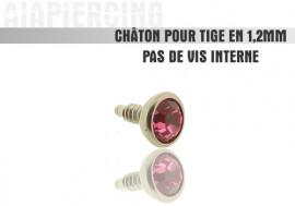 Accessoire piercing Châton cristal rose