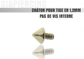 Accessoire piercing Châton pointe acier 1.2mm