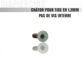 Accessoire piercing Châton bille bleu claire