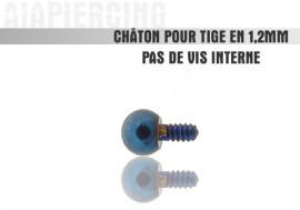 Accessoire piercing Châton bille bleu fonçée