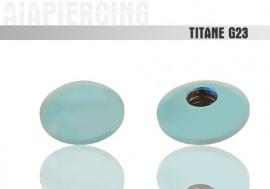 Disque titane bleu clair