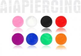 Accessoires Bille acryliques uni 1,2mm x 3mm