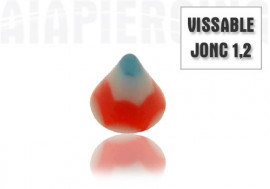 Pointe vissable acrylique 3mm bleue et rouge
