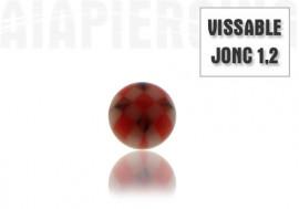 Accessoire miro-Bille vissable 3mm rouge et noire