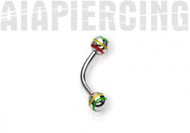 Piercing arcade Bille rasta 4mm