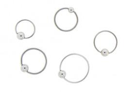 Piercing anneau BCR classiques bille clipsée - 0,8 et 1mm