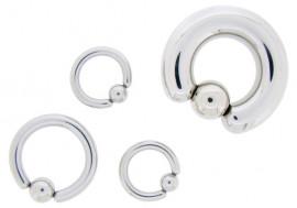 Piercing anneau BCR - gros joncs