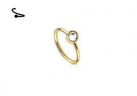 Piercing nez anneau doré cristal clos