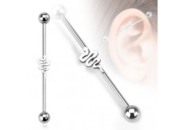 Piercing industriel motif serpent