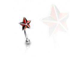 Piercing arcade étoile