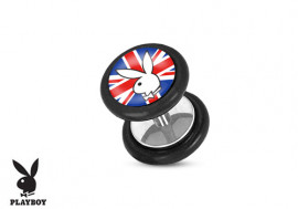 Faux plug Playboy® lapin Union Jack