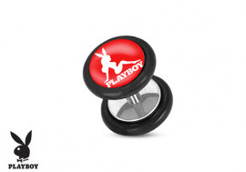 Faux plug Playboy® pin-up rouge