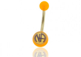 "DESTOCKAGE nombril acrylique logo ""NA"""