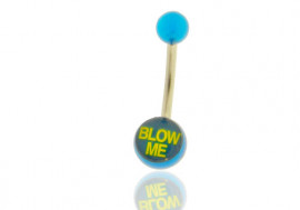 "DESTOCKAGE nombril acrylique logo ""Blow me"""