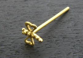 piercing nez libellule or jaune