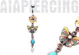 Papillon et Turquoise Vintage