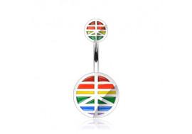 Piercing nombril peace gay pride