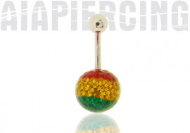 Piercing nombril swarovski multicolore