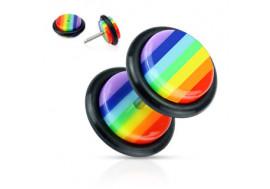Faux plug rond gay pride