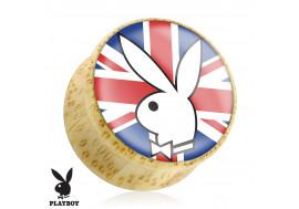 DESTOCKAGE Plug bois Playboy® lapin drapeau anglais