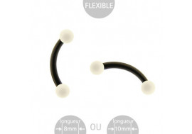 Billes blanches acrylique