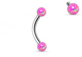 Piercing perles opalites roses