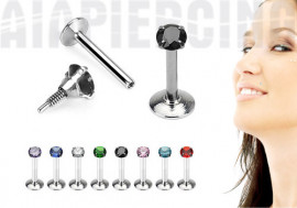 Piercing labret pierre ronde 2mm
