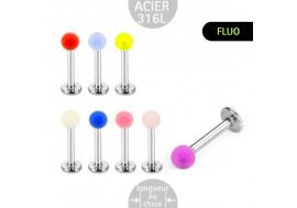Labret acrylique fluo transparent