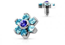 Microdermal fleur bleue