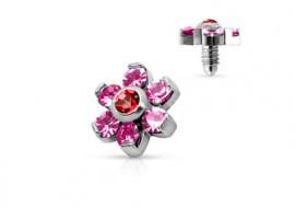 Microdermal fleur rose